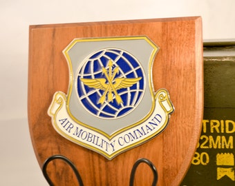 Air Mobility Command Plaque - ACC Militaria - Air Force Collectible - U.S.A. Collectible - USAF AMC