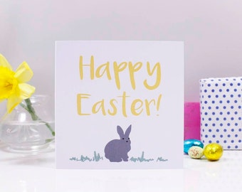 Happy Easter Bunny Easter Card - Easter bunny card - Easter Card - Cute Easter Card - Happy Easter Card - bunny card - Rabbit Easter Card