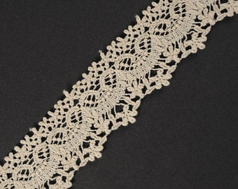 Vintage Ivory Cluny Lace Trim, 1-5/8 Inch by 1 Yard, TR-10977