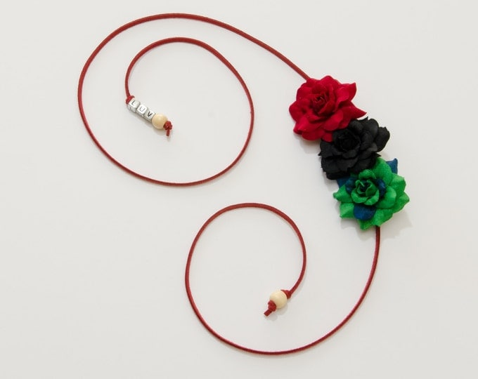 Kwanzaa Rose Side Flower Crown