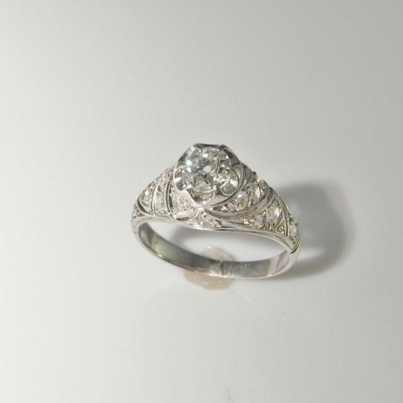 deco engagement ring 1920s engagement ring european