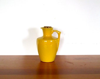 Frankoma Autumn Yellow Honey/Syrup Pitcher #838