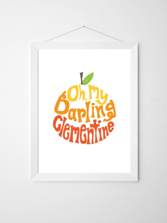 Clementine . Oh My Darling Clementine ombre . printable
