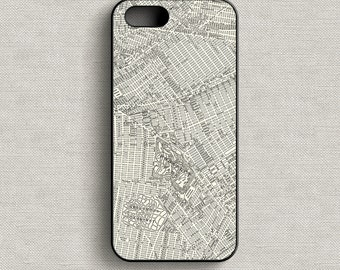 Vintage Map of Brooklyn New York Phone Case iPhone 5 5C 6 6+ 7 7+