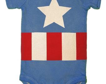 Captain America, Baby Bodysuit, Superhero