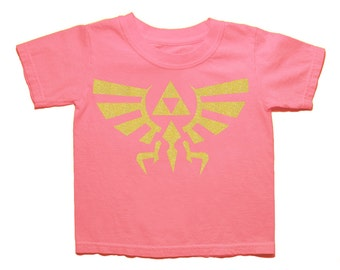 SALE! - 16.00 --> 12.50, Zelda, Kids Shirt, Hyrule, Girls