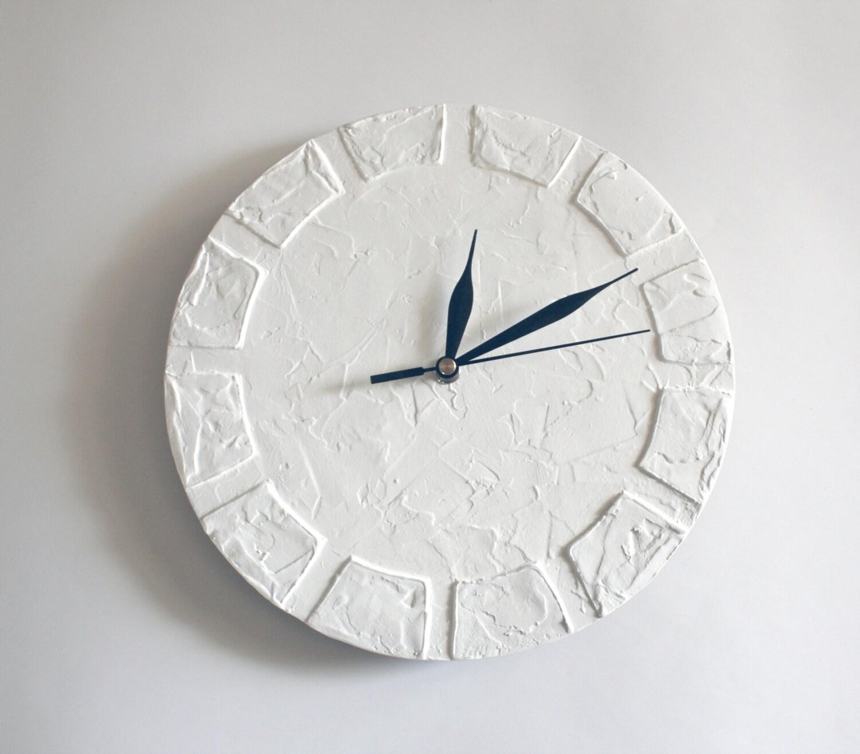 White Clock Modern Wall Clock White Wall Clock White Home