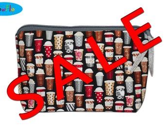SALE Zipper Bag   Coffee Cups Bag   Cosmetic Case   Pencil Case   Makeup Pouch   Zipper Bag