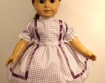 "American Girl Crinoline Doll Dress 50'S Style ""Lavender Cutie"" Handmade Doll Clothes"