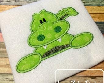 Alligator 100 Applique embroidery Design - gator Applique Design - alligator Applique Design - mascot Applique Design - zoo Applique Design