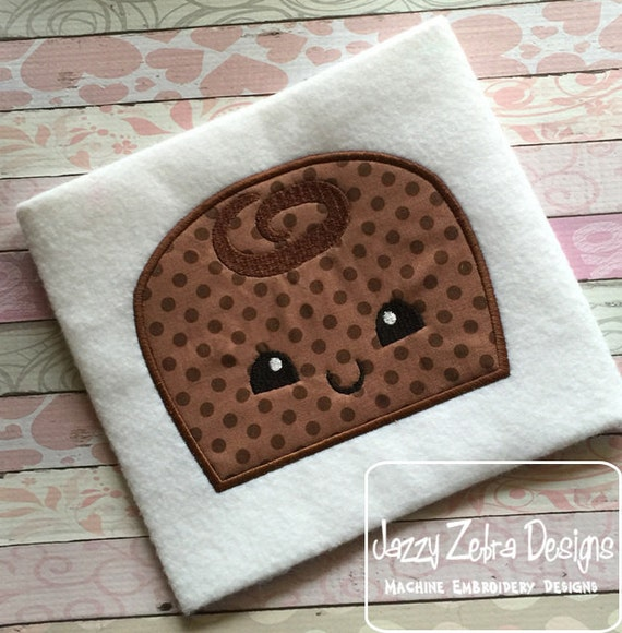 Chocolate Candy with face Appliqué embroidery Design - Valentines Day appliqué design - Valentine appliqué design - candy appliqué design