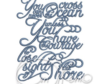 MACHINE EMBROIDERY DESIGN - Travel far enough you meet yourself, travel quotation embroidery, travel embroidery