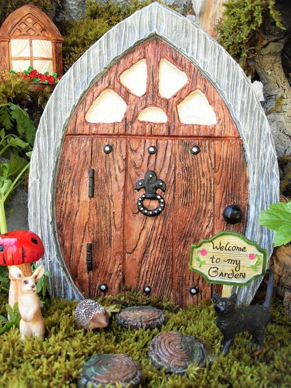 Large fairy door set gnome door elf door by laurelsfairydoors for Large gnome doors
