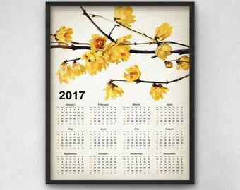 Botanical Calendar Etsy