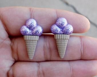 Ice Cream Cone Earrings