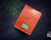 Personalized Leather Passport Cover, Real Leather, holder, wanderlust, travel, Branches Passport Cover, tree, handmade, Custom name initials