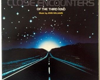 Close Encounters of the Third Kind Soundtrack LP Vinyl Record Album, Arista - AL 9500, 1977, Original Pressing