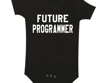 Future Programmer Baby Clothes, Bodysuit, Baby Shower Gift, Funny Baby Clothes, Baby Boy, Baby Girl, Baby Programmer