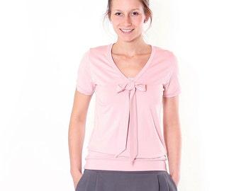 """Lore"" with decorative bow blouse / / Rosé"
