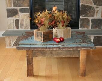 Reclaimed Barn Door Coffee Table