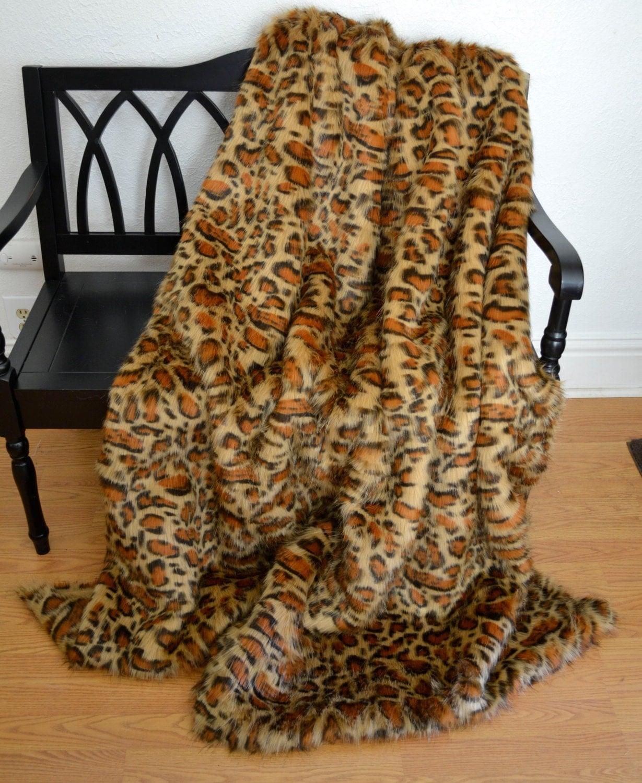 Faux Fur Leopard Blanket Throw Faux Fur Blanket Faux