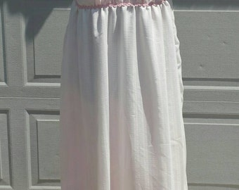 Pink and White Regency Ball Gown Ladies Size Large-Ready To Ship