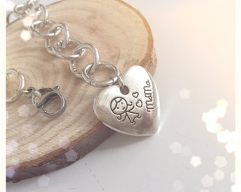 Bracelet with aluminum chain and pendant mother