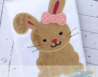 Bunny Rabbit Easter Digital Machine Embroidery Applique Design 4 SIZE rabbit applique, rabbit embroidery, bunny applique, bunny embroidery