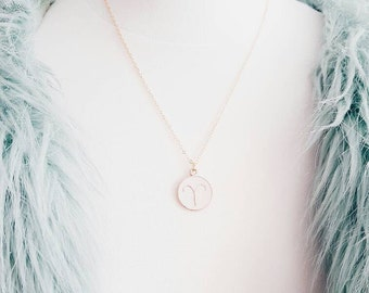 Gold Zodiac Necklace | Star Sign Necklace | Aries, Virgo, Cancer, Aquarius, Capricorn, Scorpio, Leo, Libra, Pisces, Gemini, Taurus
