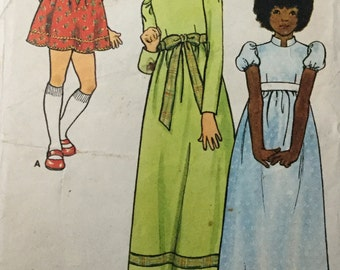 Butterick  junior sewing pattern 6919 , vintage girls dress sewing pattern, Size 8 27 Breast