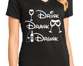 Food and Wine Shirts/Drink Drank Drunk Shirt/Epcot Food and Wine/Epcot/Disney World/Disneyland/Wine Festival