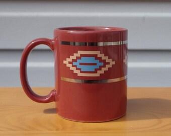 Vintage Southwest Style Mug, Made in USA