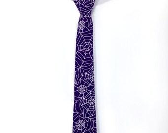 Kids Halloween Tie, Halloween Tie for Kids, Spider Web Tie, Boys Tie, Kids Tie, Toddler Tie, Girls Tie, Halloween Tie, Boys clothing