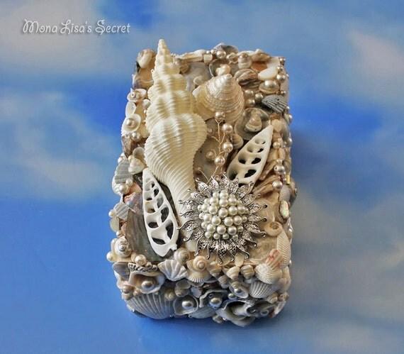 Make Your Own Seashell Jewelry: Seashell Jewelry Box Beach Style Seashell Box Coastal Decor