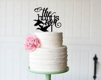 Wedding Cake Topper, Hunting Wedding Cake Topper, The Hunt is Over Wedding Cake Topper, Duck Hunting Topper, Custom Hunting Cake Topper