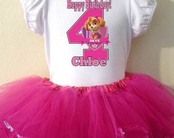 SKYE Party Dress birthday 2pc H Pink Tutu set  1,2,3,4,5,6,7,8,9,10 Years