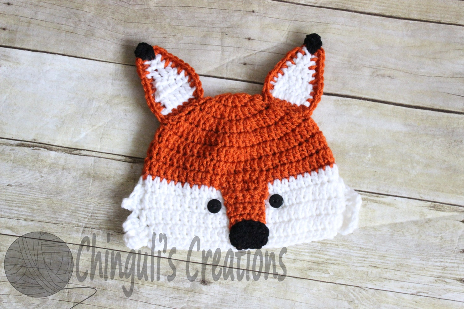 Crochet Fox Hat : Crochet Fox Hat Baby Girl Baby Boy Fox Hat by Chinguliscreations