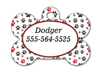Personalized pet identification tags, Pet ID Tags,
