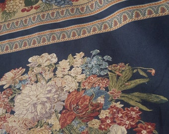 Floral and Fruit Upholstery Fabric