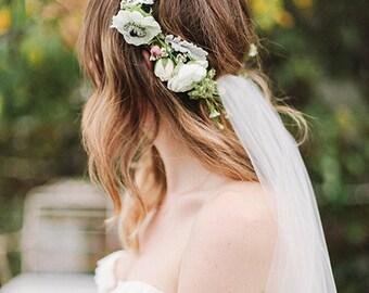 Custom Floral Crown with Veil