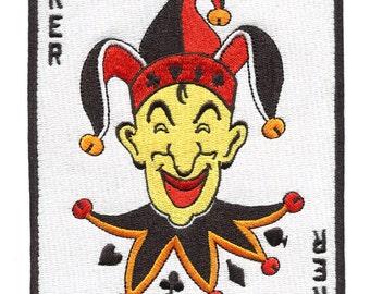 Super Large Joker Patch XL Poker 18cm x 12cm for Jacket or Shirt Poker Night