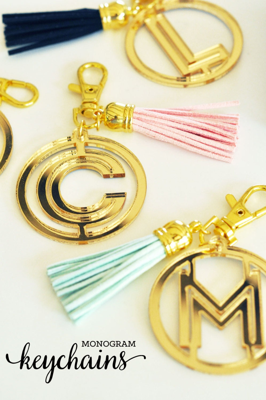 Personalized Keychains Custom Keychain Tassel Keychain Bridal