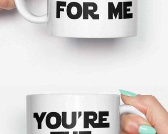 You're the Obi Wan for me - funny mug, gifts for him, meme mug, unique mug, office mug, ...
