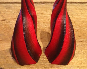 Black and Red Shaded Devil Horns