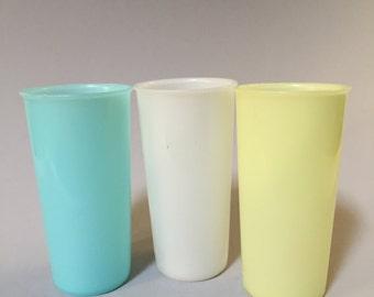 TUPPERWARE CUP, Pastel Tupperware cup, Vintage Tupperware tumbler, tall Tupperware cup, translucent Tupperware cup, vintage Tupperware cup