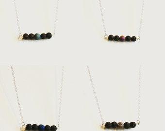 Lava essential oil diffuser necklace~bar style~