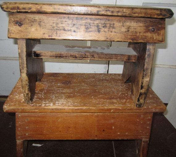 Sale Primitive Antique Stool Primitive Bench Primitive