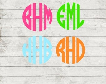 Monogram Personalized/Custom Vinyl Decal. You pick Colors and Size.
