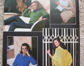 Knit and Crochet Book - Year Round Cottons - Leisure Arts Leaflet #145 - Vintage 1979