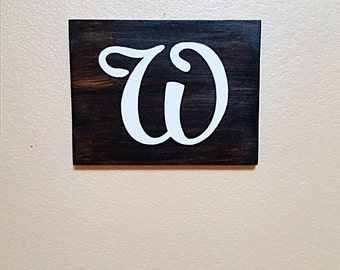 Initial Wood Sign - Wood Sign - Letter Sign  - Wedding Gift - Family Name Sign - Wood Anniversary - Monogram Decor - Monogram Wood Sign